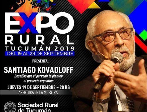 En el marco de nuestra 54° edición de la Expo Tucumán, llega el distinguido filósofo Santiago Kovadloff para la apertura de la muestra.